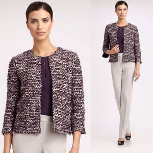 New St. John Couture Tweed Jacket Boucle Blazer